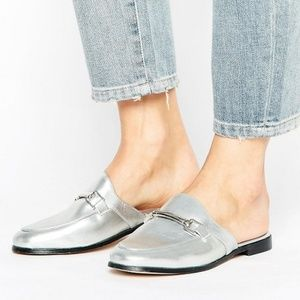 TOPSHOP Kylie Loafer Mule Silver 7.5🎉HP🎉